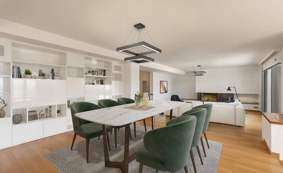 home staging virtuel séjour meublé