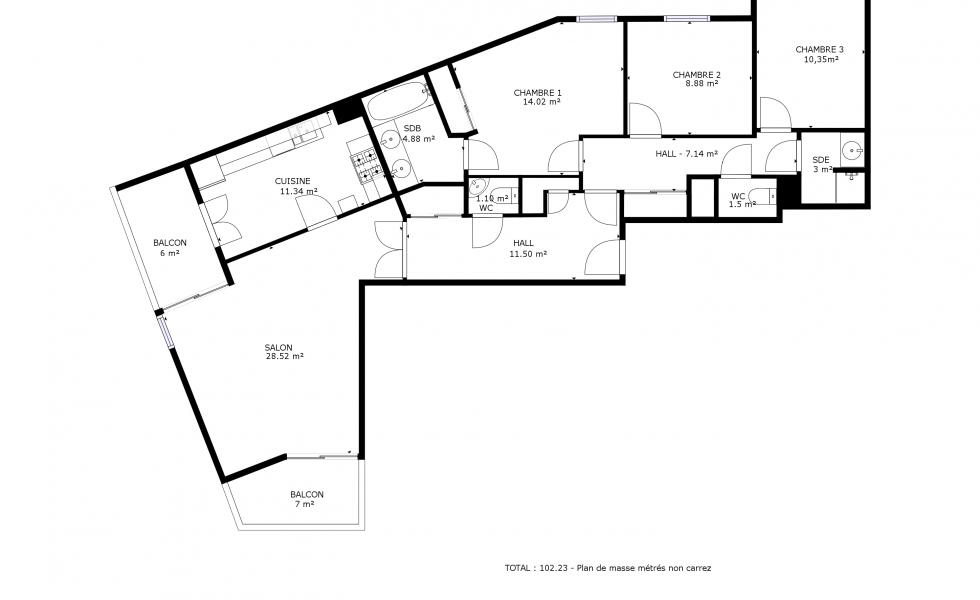 plan cotés immobilier lyon