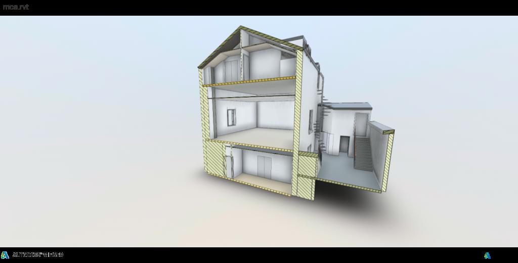 immobilier autocad 3d