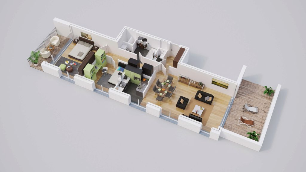 plan 3d immobilier