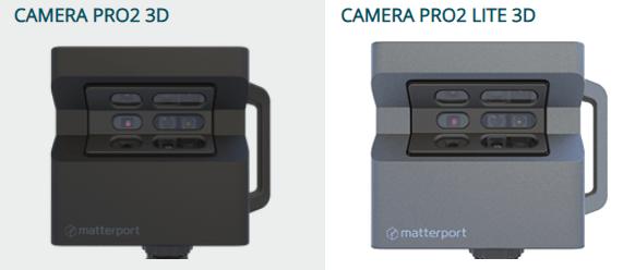 cameras pro2 et pro2 lite de Matterport