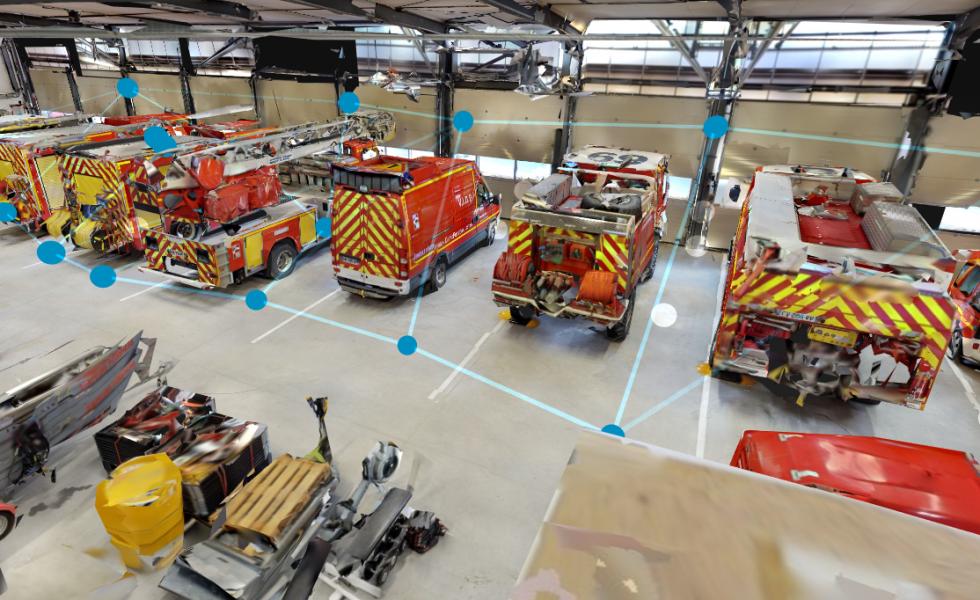 visite virtuelle pompier