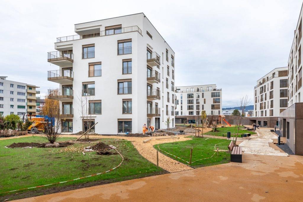 Home staging virtuel espaces verts en chantier